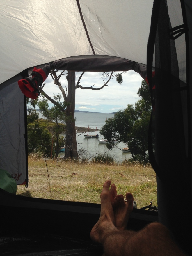 Camp site with a view