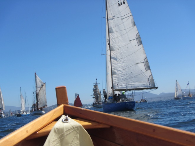 Parade of Sail into Hobart