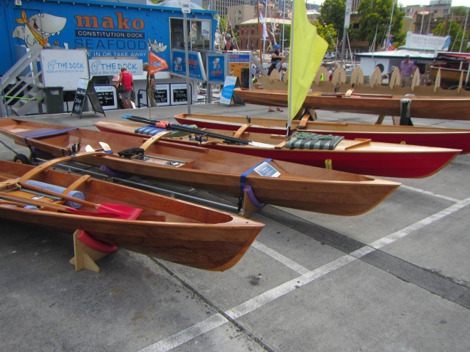 Great line up of the Derwent Skiffs, Julian rowed one of these the entire Raid.