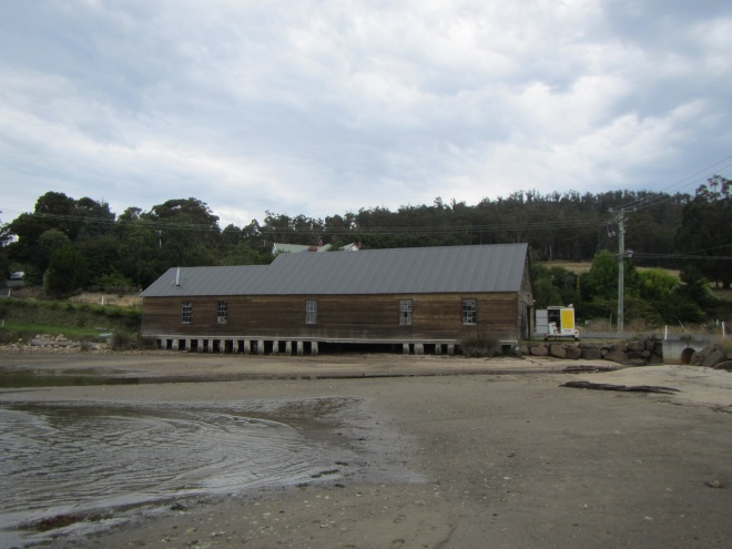 Brooks Bay, Old apple packing shed, home for the night.