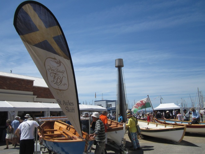 New Zealand Traditional Boat Building School and the St Ayles on display.