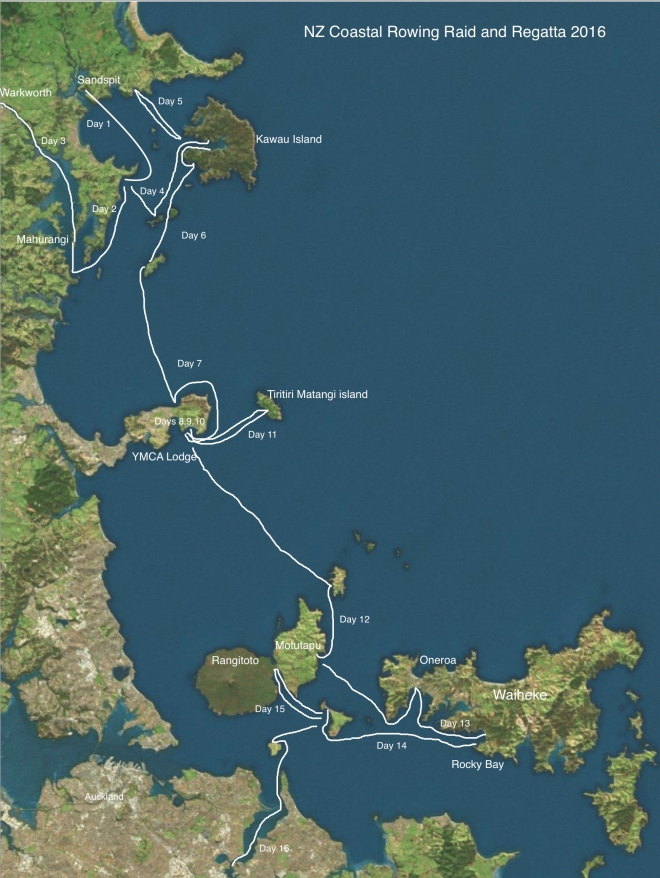 NZ Coastal Rowing Map 1
