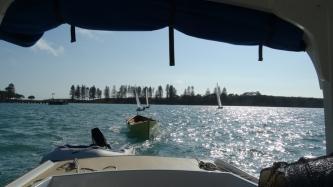 departing Motuihe island